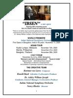 IBSEN a New Opera Presentation