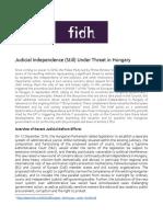 Hungary Judicial Independence Brief