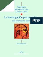La investigación psicosomática_ Siete observaciones clínicas - Pierre Marty;Michel de M Uzan.pdf