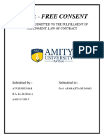 project on free consent