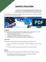 Argentina Visa India