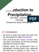 Introduction Precipitation