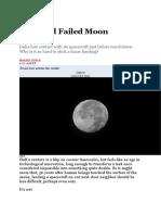 A Second Failed Moon Landing.docx