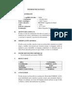 Informe Psicológico Tepsi Angelitos de Maria