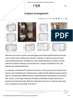 Bathroom Size and Space Arrangement - Engineering Discoveries