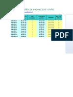 Plantilla Diagrama de Gantt
