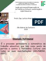 MINICURSO EDUCAÇÃO PATRIMONIAL