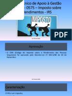 PP1 UFCD 1 0575 IRS