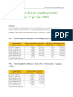 PV CYCLE France - Barème Des Éco-participations 2020