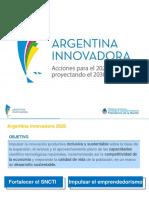 Agenda 2016 - 2030 - Ciencia y Tecnología Argentina