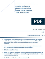Associés en FinanceExpérience du calcul de la prime de risque anticipée 1975-février 2009