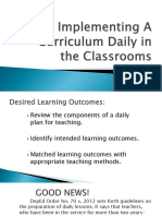Implementing curriculum