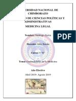 1. Generalidades de Medicina Legal