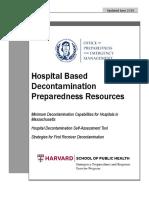 MDPH Hospital Based Decontamination Resources June 2014