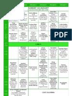 Limmud NZ Schedule 2010