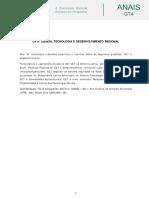 Anaia Edrs-gt4 Ciência, Tecnologia e Desenvolvimento Regional.coord. Ana Cristina