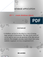Operate Database Application Power Ponit