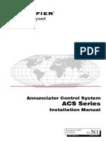 15842 Annunciator Control System ACS Series Installation Manual
