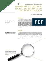 9 La Observacin y El Diario de Campo en La Definicin de Un Tema de Investigacin