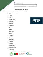 Ficha processador de texto - Palavras e Frases
