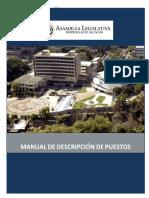 Manual de puestos de trabajo de la Asamblea Legislativa de El Salvador