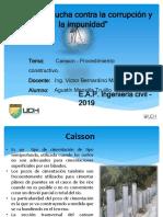 Caisson- Procedimineto Constructivo