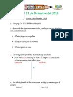 Tarea Del 9 - 13 Diciembre de 2019.