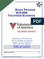 Volunteers of America Snow Buddies Handbook