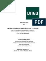 EL LENGUAJE VISUAL DE PLATÓN Y EL LENGUAJE  LÓGICO FORMAL DE WITTGENSTEIN- UNA COMPARACIÓN