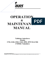 Tuttnauer M, MK-Series Autoclave - User and maintenance manual.pdf