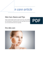 Skin Care Article