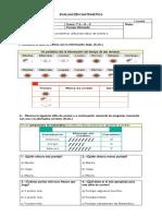 Evaluación Tablas de Conteo y Pictogramas