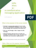 social media presentation whatsapp