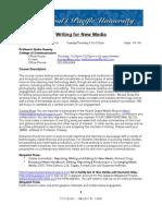 Writing for New Media Syllabus 1-26-10