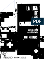 ANDRÉAS, Bert -La Liga de Los Comunistas 1847 - Documentos Constitutivos - Ediciones de Cultura Popular (1973)