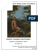 Advent Lessons & Carols 2019 - December 8 (Year a)