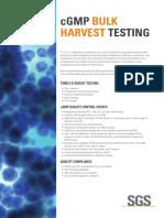 cGMP Bulk harvest testing