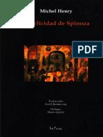 HENRY, M., La Felicidad de Spinoza, 2008