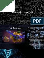 Síntese de Proteínas.
