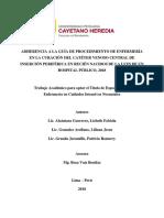 Adherencia a La Guía de Procedimiento de Enfermería en La Curación Del Catéter Venoso Central de Inserción Periférica en Recién Nacidos de La UCIN de Un Hospital Público