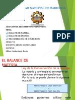 Balance de Materia - Energia - Movimiento (Rocio)