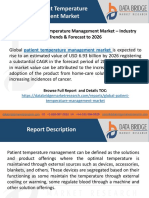 Global Patient Temperature Management Market – Industry Trends & Forecast to 2026