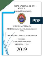 Informe Soldadura Alambre Tubular