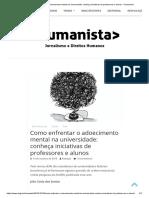 [Reportagem] Como Enfrentar o Adoecimento Mental Na Universidade - Conheça Iniciativas de Professores e Alunos