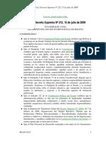 Decreto Supremo de creación de la Escuela de Gestión Publica Plurinacional