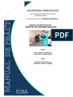 Manual de Practicas Del Hospital Veterinario de Pequenas Especies