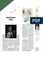 Article paru dans Fisheyes sur le travail de Louise Oligny et Clémentine de Pontavice
