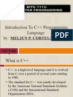 MELJUN CORTES--IT102 Introduction to C Programming Complete