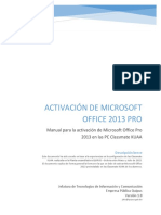 11 - Manual Activacion Office