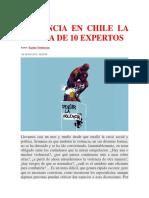 Violencia en Chile La Mirada de 10 Expertos